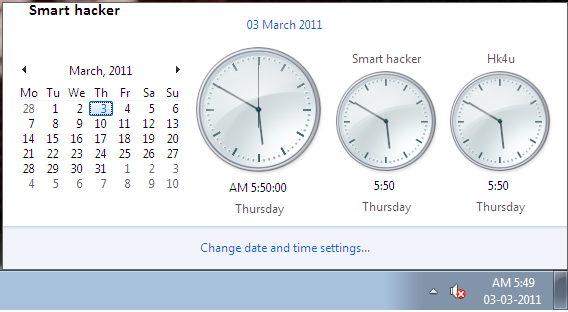 How to add multiple time zone in W7.
