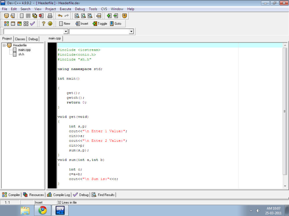 How to write a header file c